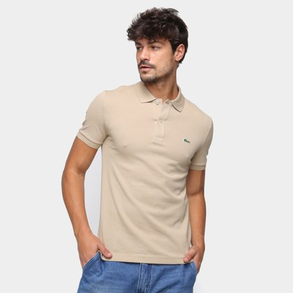 Camisa Polo Lacoste Piquet Slim Fit Masculina
