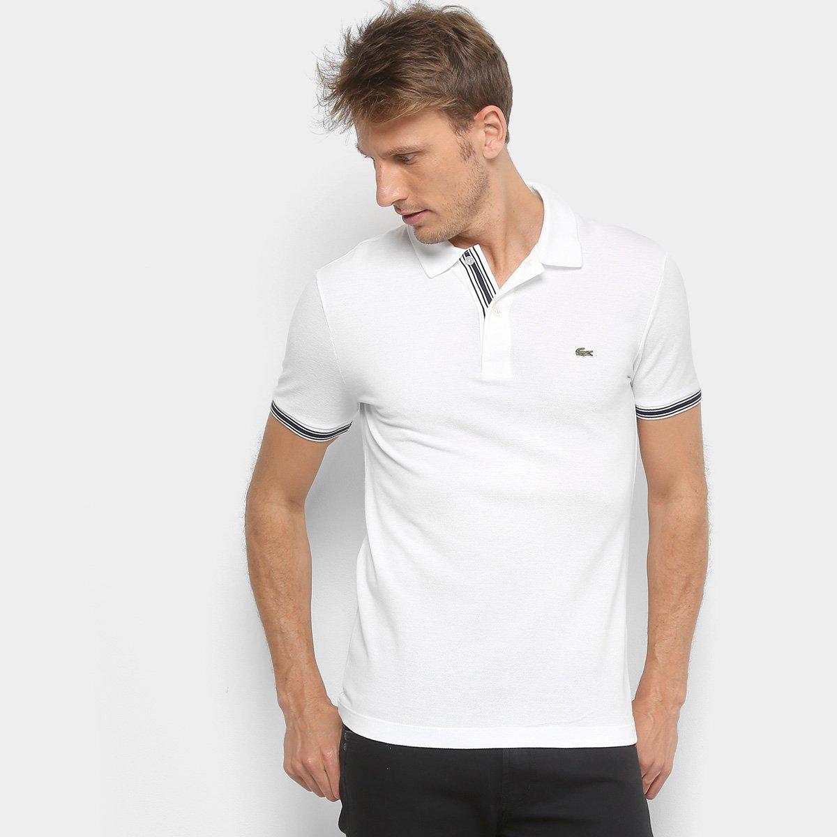 ad18b4631e275 Camisa Polo Lacoste Piquet Slim Fit Masculina - Compre Agora   Zattini
