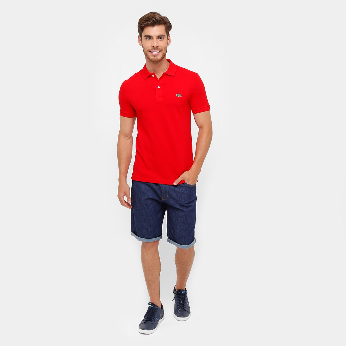 ec8d1ffdf8 Camisa Polo Lacoste Piquet Slim Fit Masculina - Compre Agora
