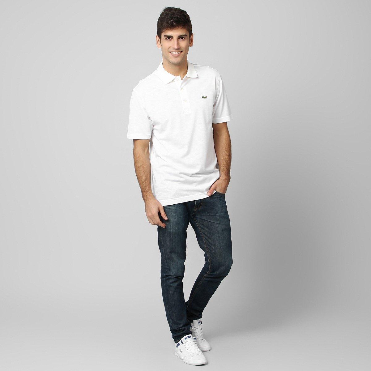 1eb51b7a4f Camisa Polo Lacoste Super Light Branco - Zattini em Promoção no Oferta  Esperta