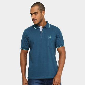 Camisa Polo Lucky Sailing Bolso Masculina