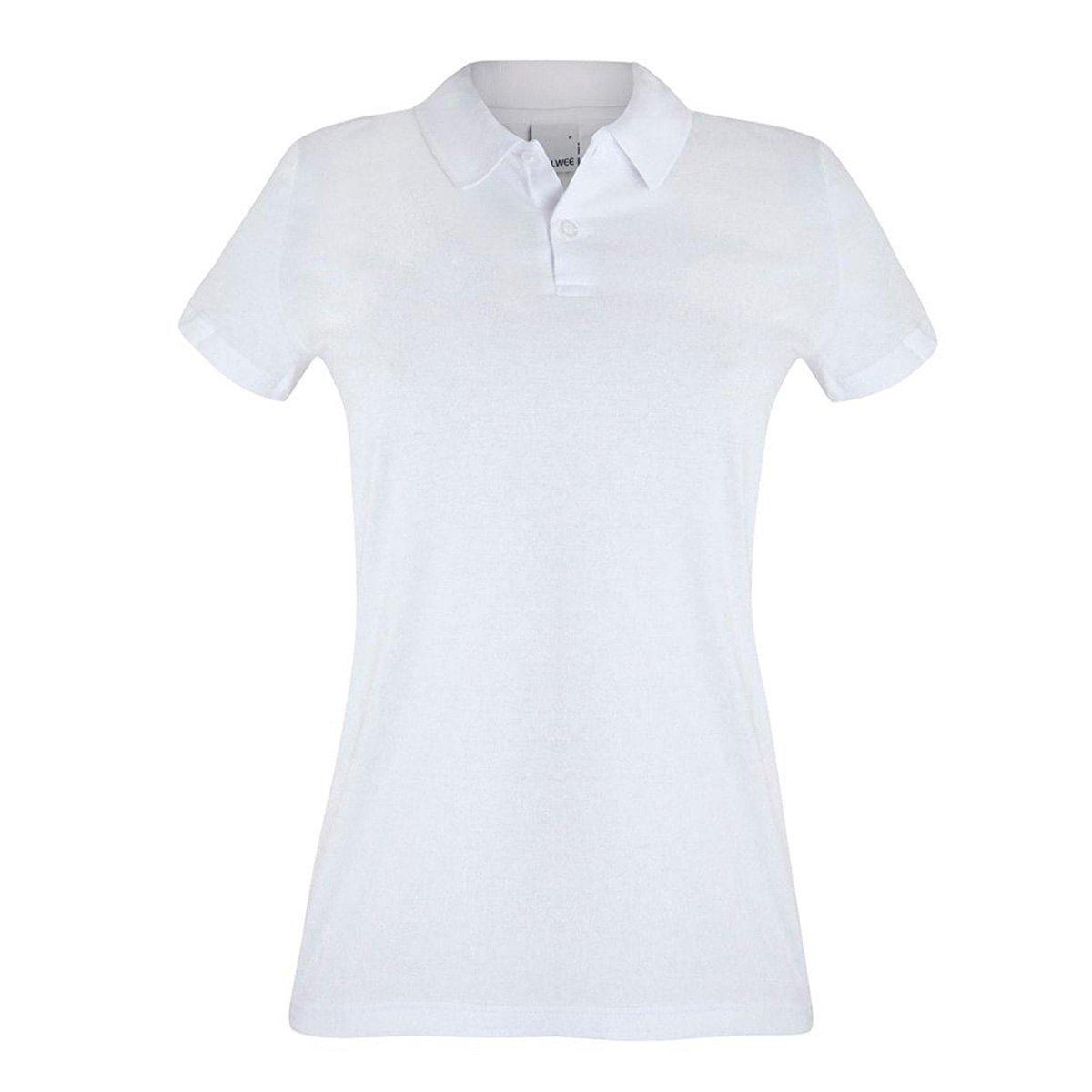 Camisa Polo Malwee Básica Feminina - Branco