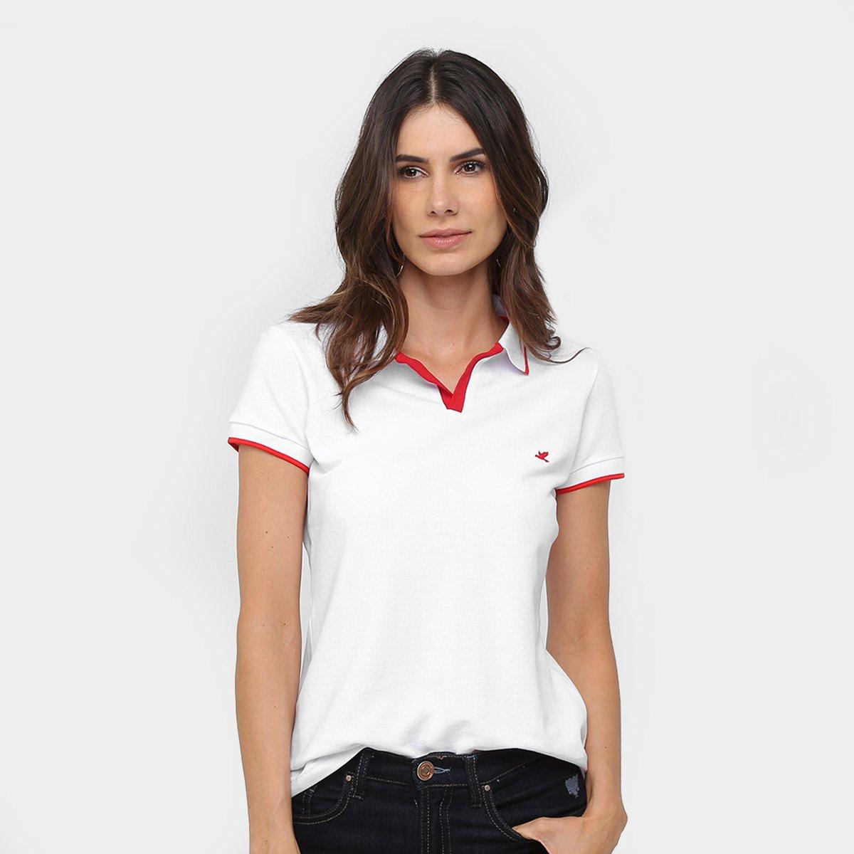 d41127ac37 Camisa Polo Malwee Listra Gola E Manga Feminina - Compre Agora