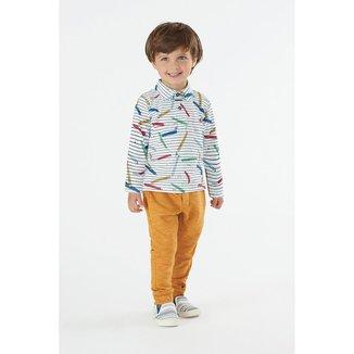 Camisa Polo Manga Longa Masculina Up Baby