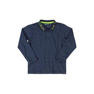Camisa Polo Manga Longa Quimby