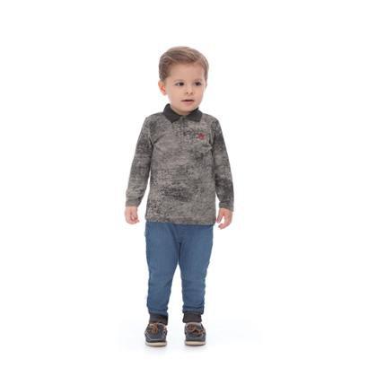 Camisa Polo Marmorizada Infantil Up Baby Masculina