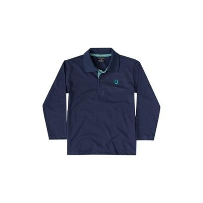 Camisa Polo Meia Malha Infantil Quimby Masculina