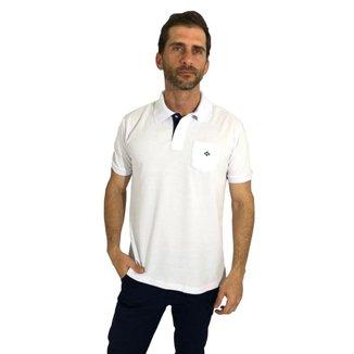 Camisa Polo Mister Fish Slim Com Bolso Masculina