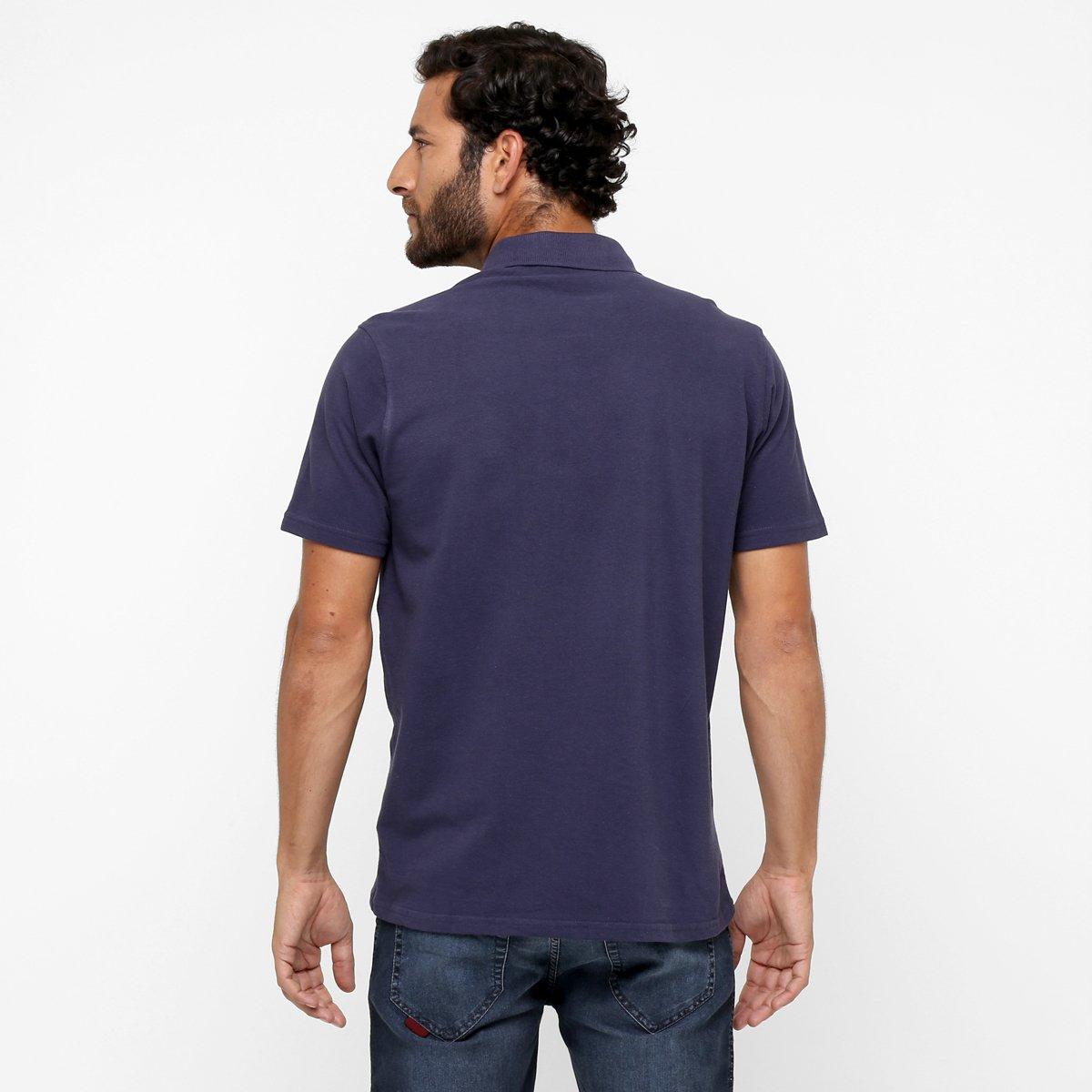 Camisa Polo Oakley Mod Essential Elipse - Roxo - Compre Agora  03ac4e9280f