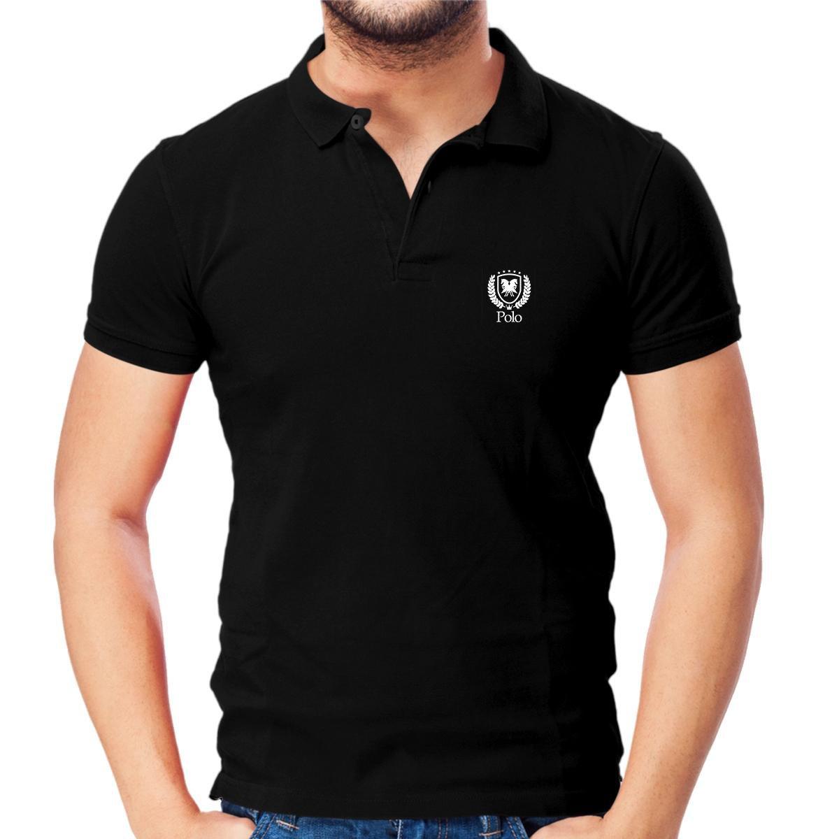 9a89bfe45 Camisa Polo Piquet Slim Fit Brasão Polo Match - Compre Agora