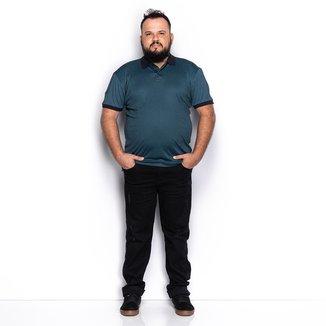 Camisa Polo Plus Size Lisa Manga Curta Casual Teodoro Camisaria Masculina
