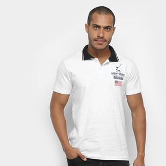 Camisa Polo Polo In Listras Patch Masculina