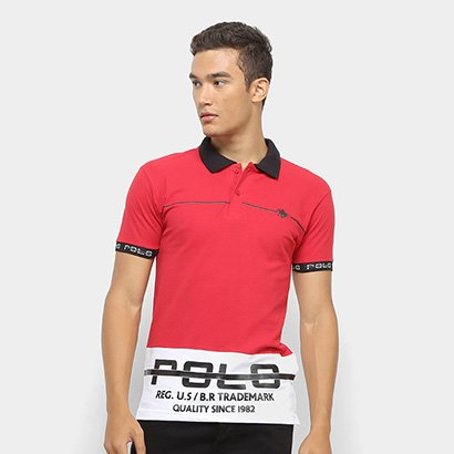 Camisa Polo Polo RG 518 Estampada Masculina