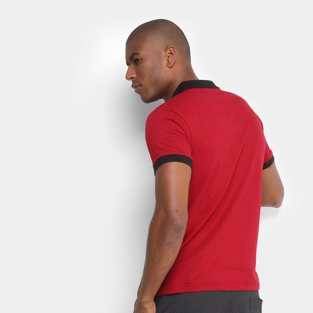 Camisa Polo Polo Rg 518 Maquinetada Logo Metal Masculina - Vermelho ... f426281342416