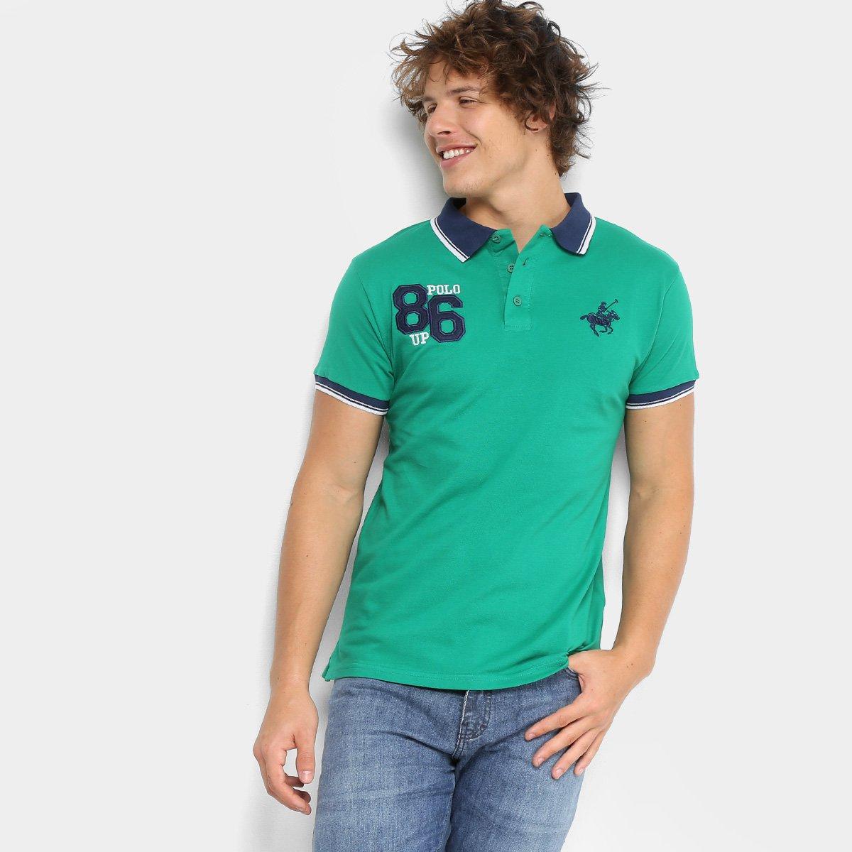 Carregando zoom. b23e3ee1596 Camisa Polo Polo Up com Bordado Masculina -  Verde - Compre Agora . 1d9ab6823392f