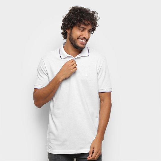 Camisa Polo Polo Wear Básica Com Friso Masculina - Branco