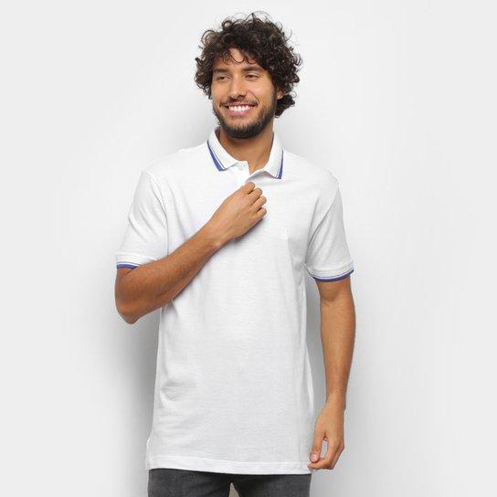 Camisa Polo Polo Wear Básica Friso Masculina - Branco