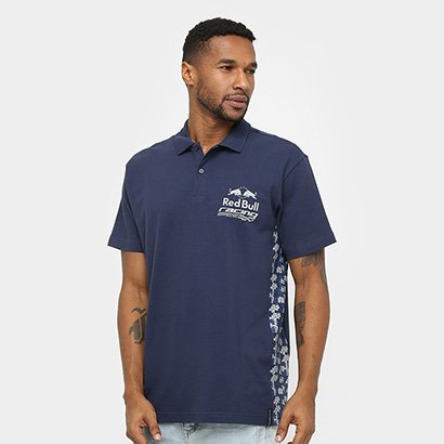 Camisa Polo Red Bull Racing Stock Car Team Camo Masculina