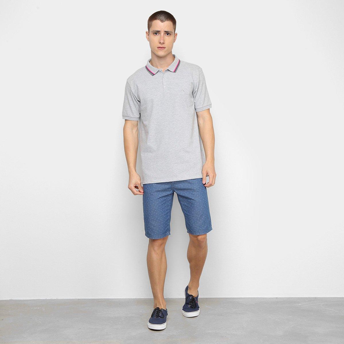 Camisa Polo Reserva Novo Friso Masculina - Mescla