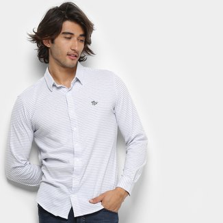 Camisa Polo RG 518 Listrada Manga Longa Masculina