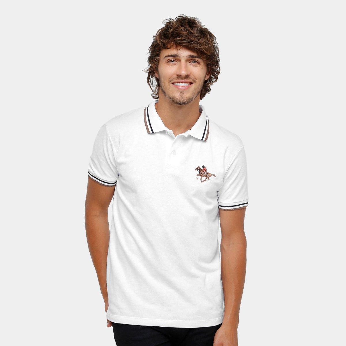 c8a3b13b2af5e Camisa Polo RG 518 Malha Frisos Bordada Masculina - Compre Agora ...