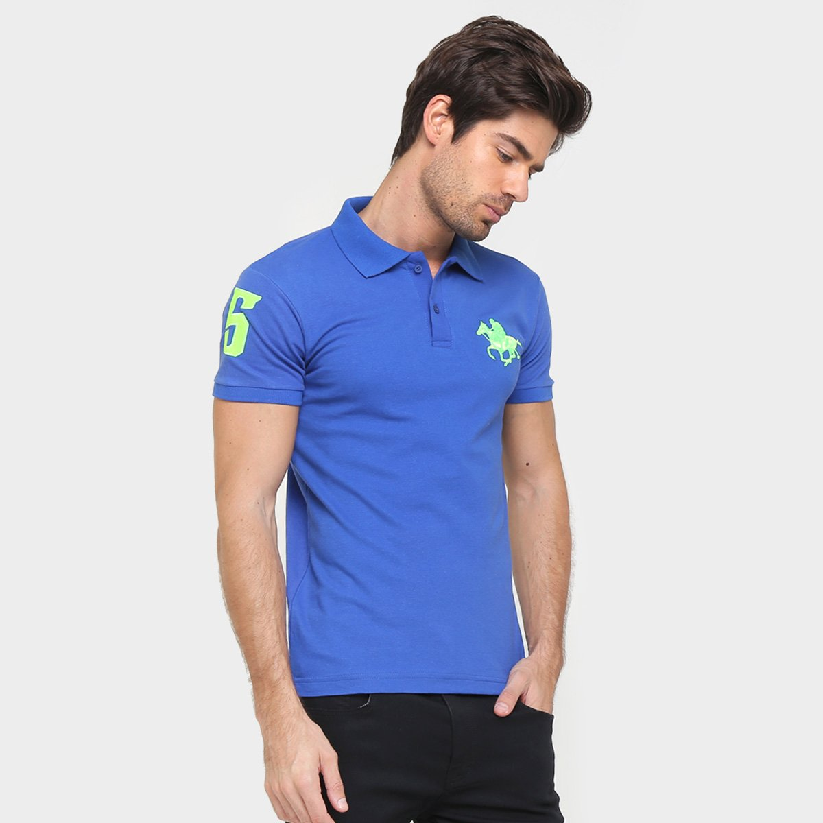 Camisa Polo Rg 518 Piquet Bordado Contraste Color 3f537bdce08e5