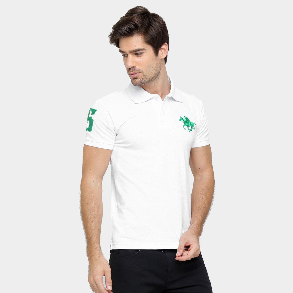 Camisa Polo Rg 518 Piquet Bordado Contraste Color 3c26adf522ccf