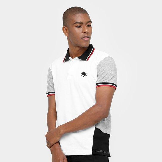 Camisa Polo RG 518 Piquet Frisos Masculina - Branco