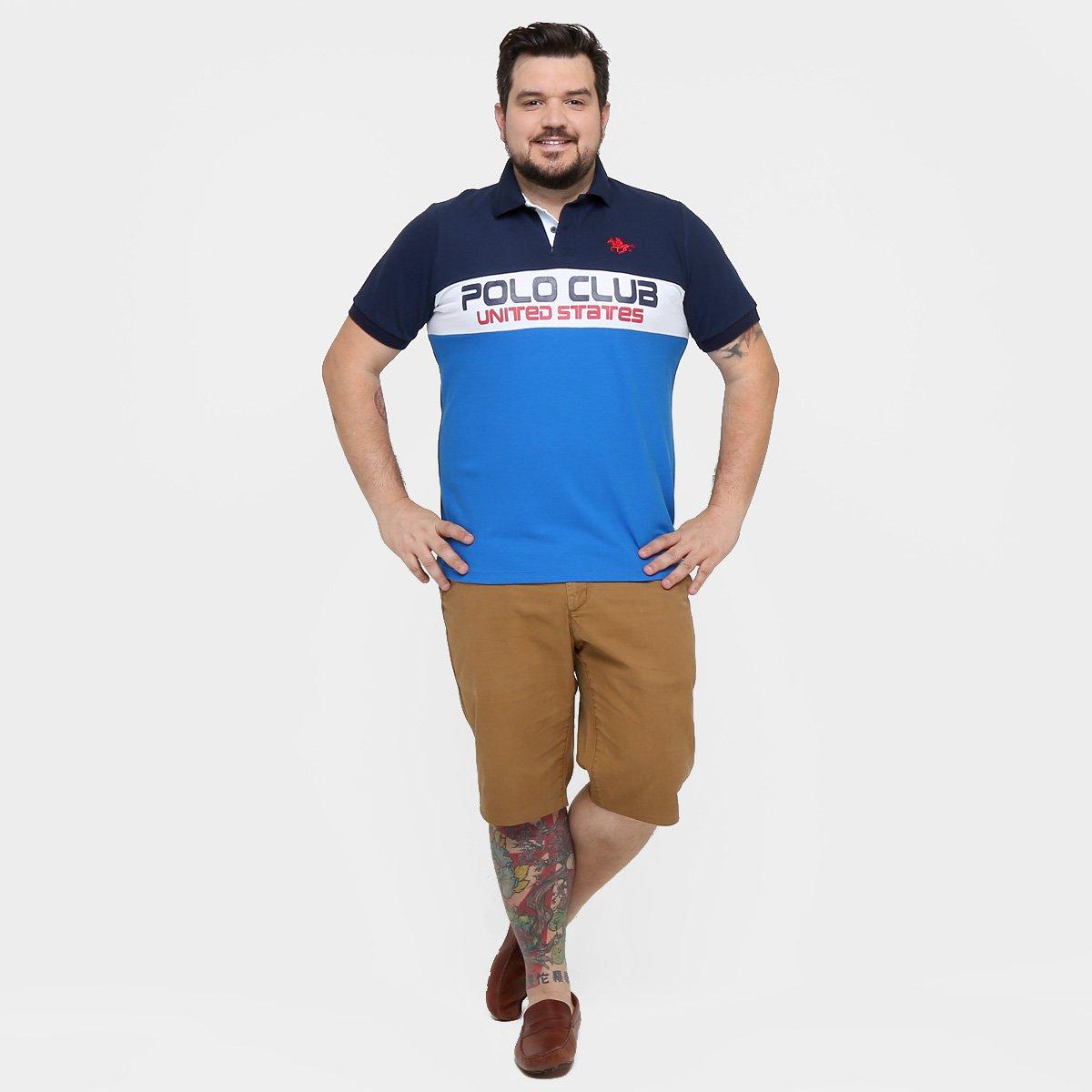 Camisa Polo RG 518 Piquet Recorte Bordado Plus Size - Compre Agora ... 2ce16778ae278