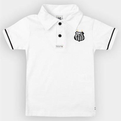 8a16401f8d Camisa Polo Santos Infantil Branca - Preto e Branco - Compre Agora ...