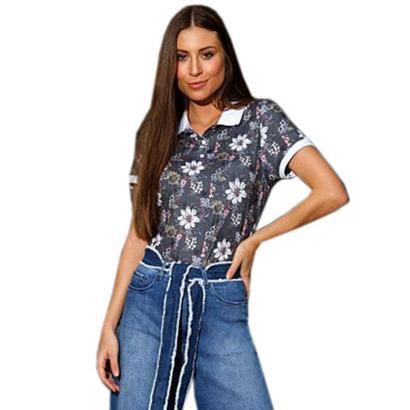 Camisa Polo Seeder Feminina Floral