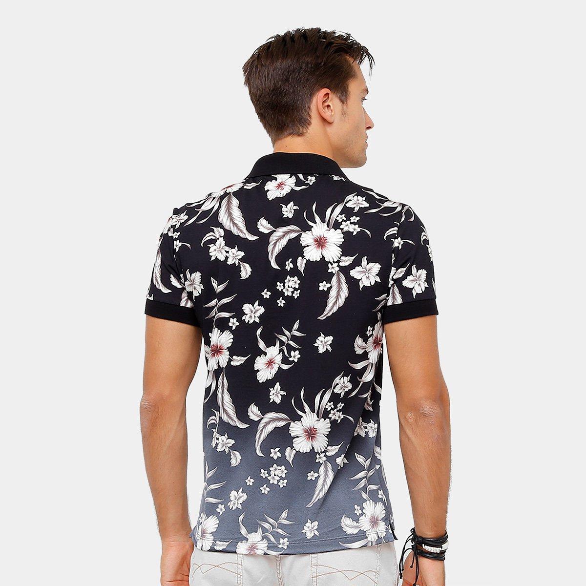 e322f93d720d9 ... Camisa Polo Sommer Malha Full Print Flower Degradê Masculina ...