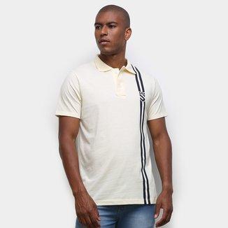 Camisa Polo Suburban Frisos Laterais Masculina