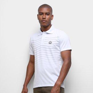 Camisa Polo Suburban Listrada Âncora Masculina