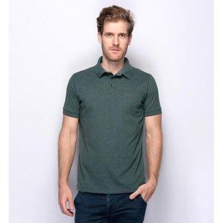 Camisa Polo Teodoro Piquet Miniprint Geométrico Masculina