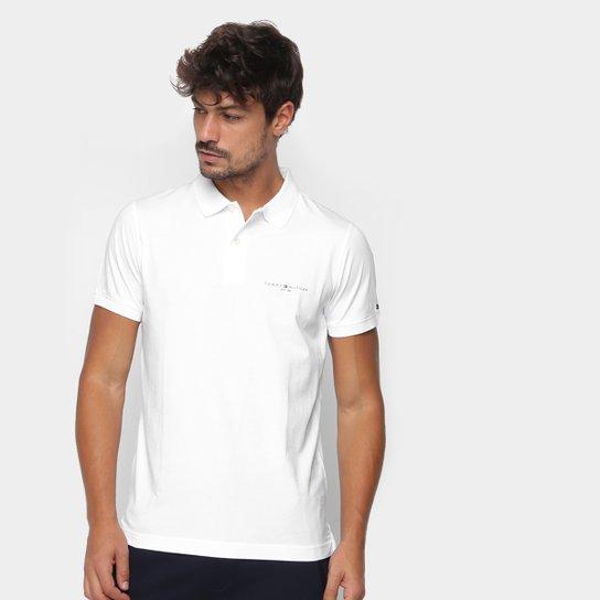 Camisa Polo Tommy Hilfiger Básica Masculina - Branco