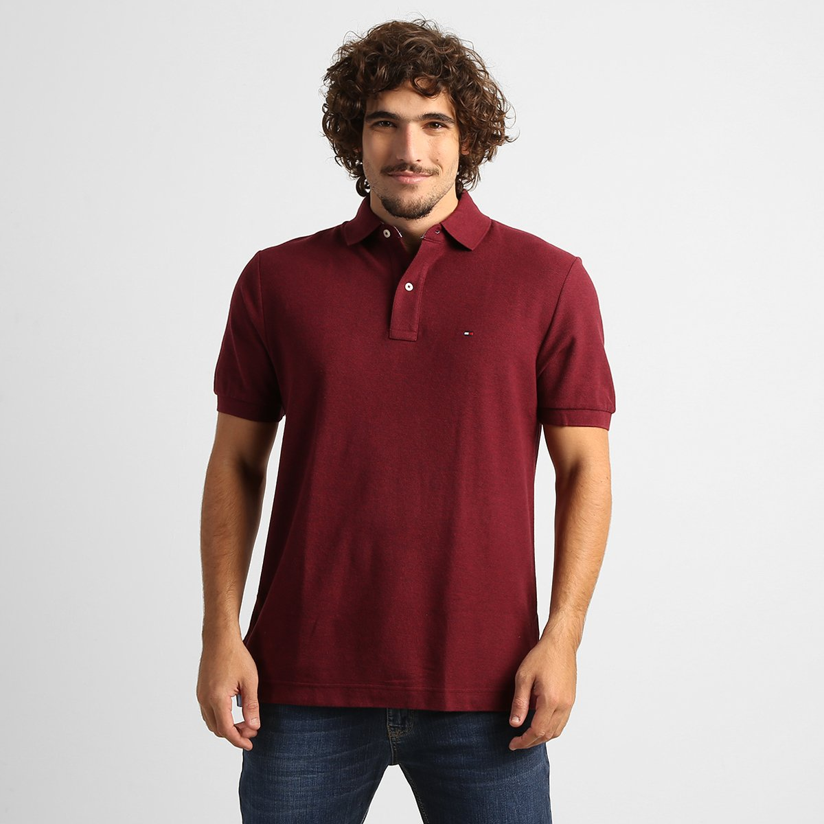 9473e15569 Camisa Polo Tommy Hilfiger Piquet Básica - Compre Agora