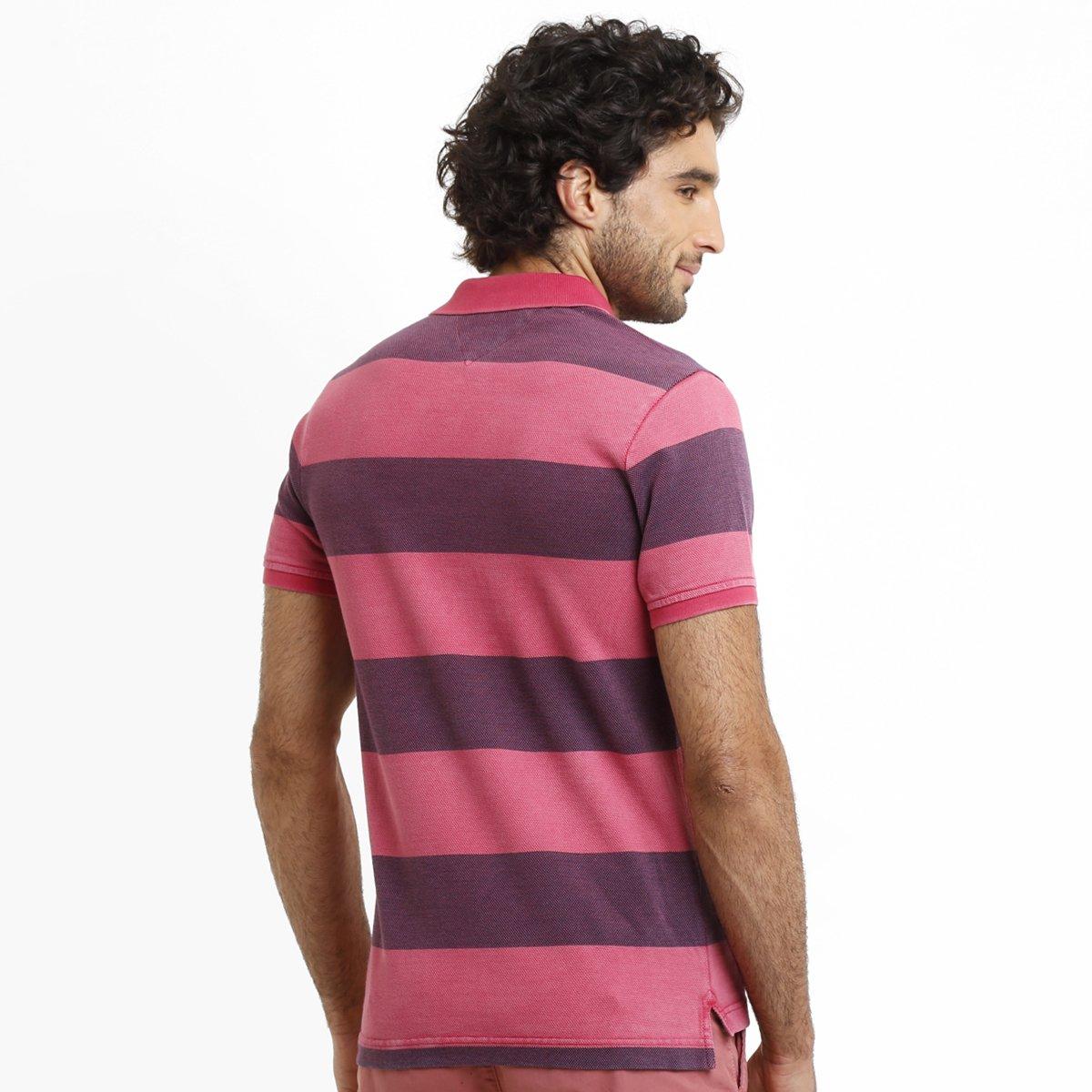 c4ed1eec44 Camisa Polo Tommy Hilfiger Piquet Slim Listras - Compre Agora
