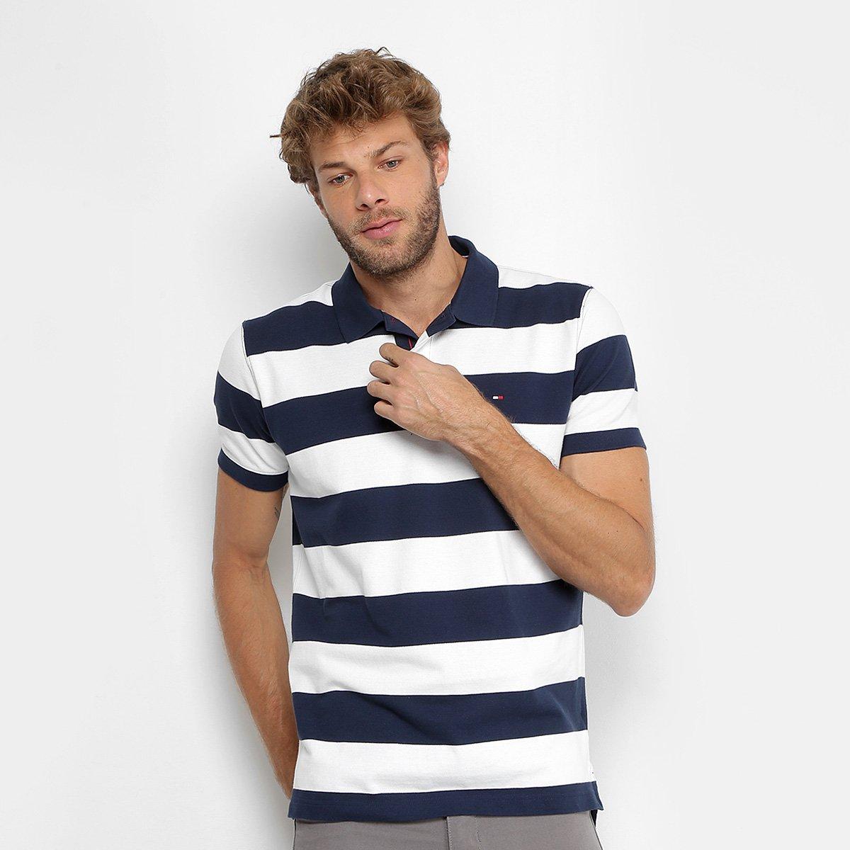 f2507179e9 Camisa Polo Tommy Hilfiger Regular Listrada Masculina