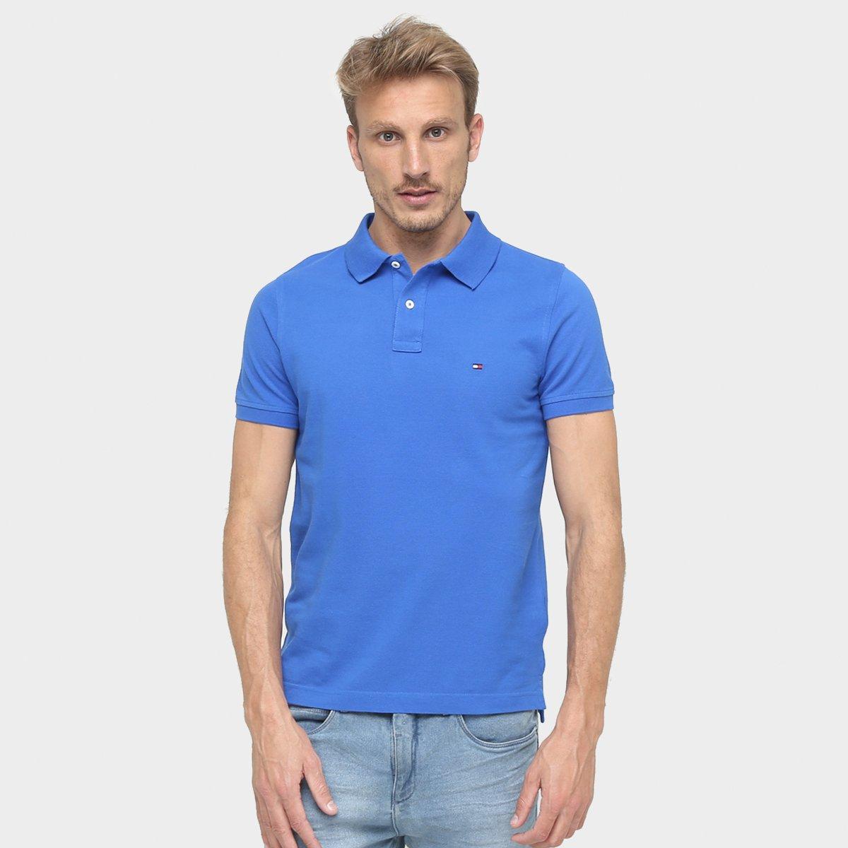 add11e40c8cb3 Camisa Polo Tommy Hilfiger Slim Fit Piquet - Compre Agora   Zattini