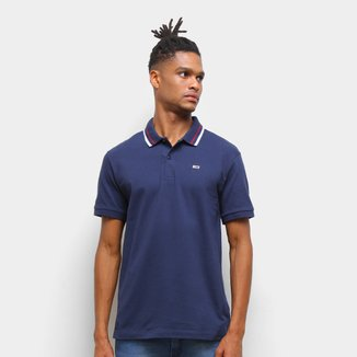 Camisa Polo Tommy Jeans Básica Masculina
