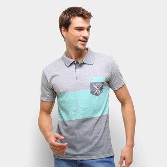 Camisa Polo Ultimato Bicolor Manga Curta Masculina