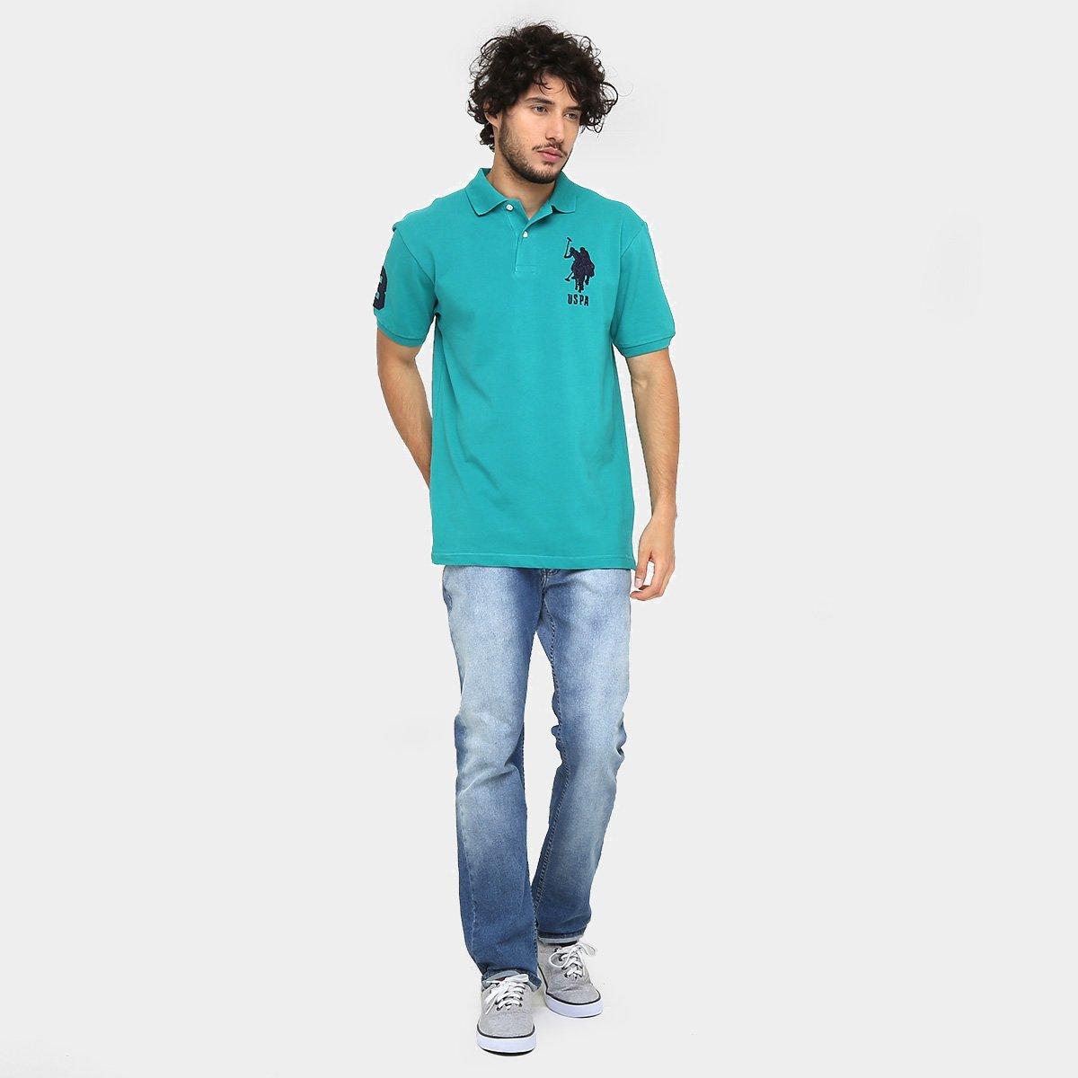 Camisa Polo U.S Polo Assn Piquet Bordado - Compre Agora  c9f2ea7783da9