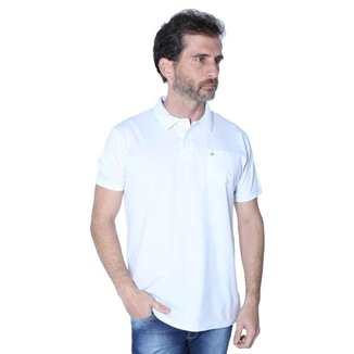 Camisa Polo Yacht Sport Com Bolso Meia Malha Masculina