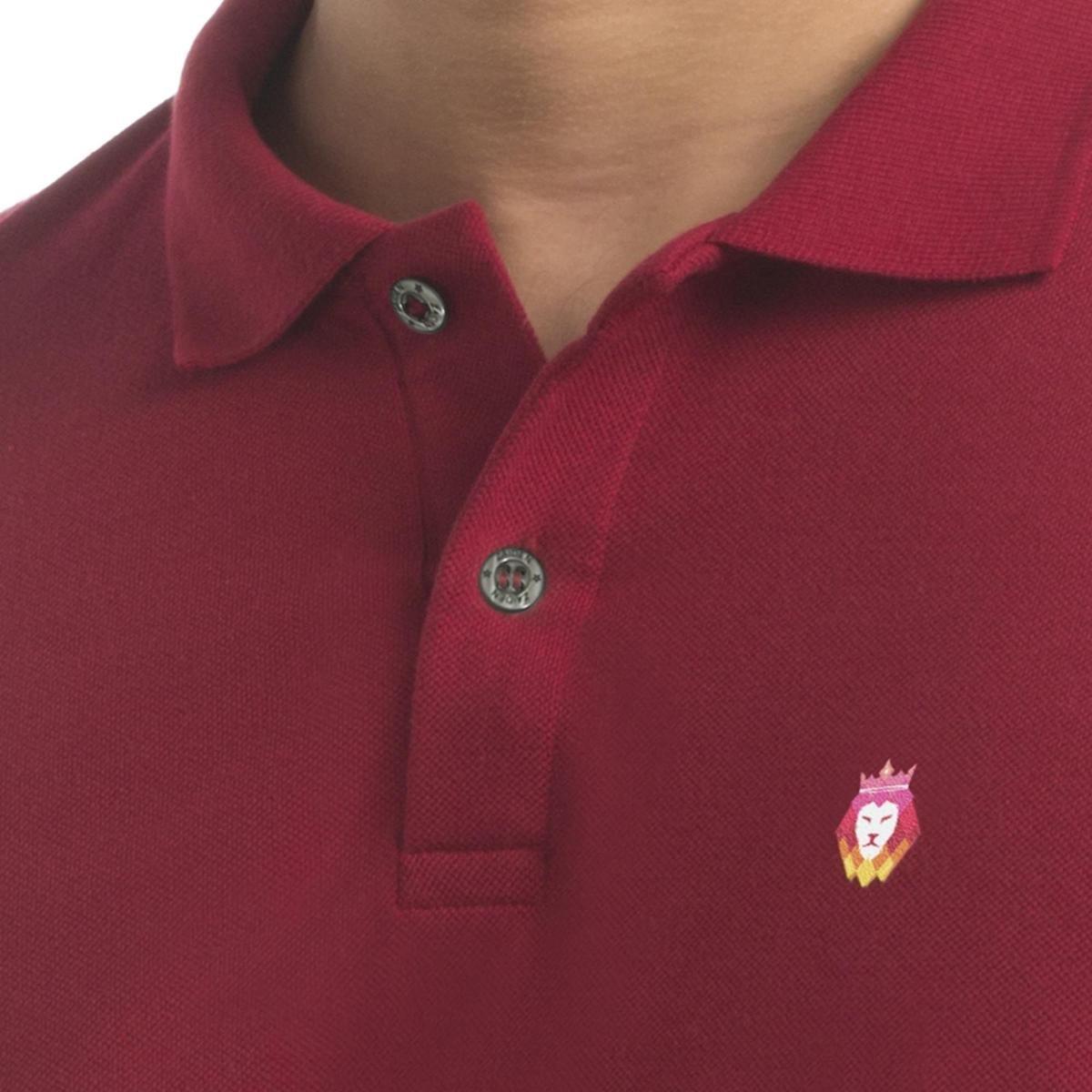 Camisa Polo  Zaiden Store Piquet Zaiden Basic V1 - Vermelho Escuro