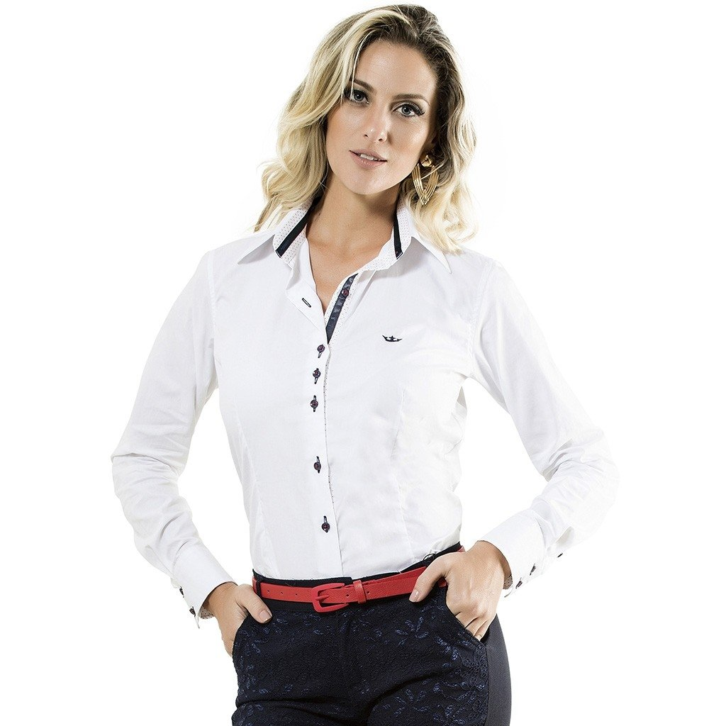 camisa básica Camisa Principessa Scarlet - Branco