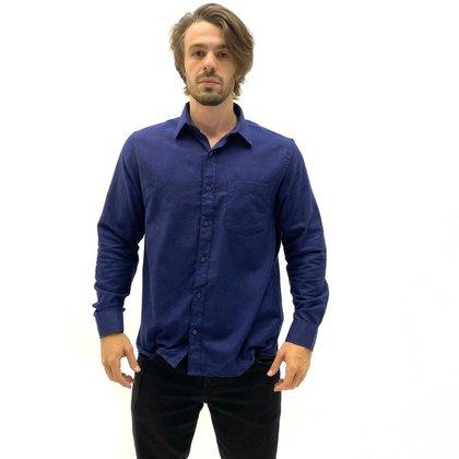 Camisa Sibra Flanela Algodão Com Bolso Masculina