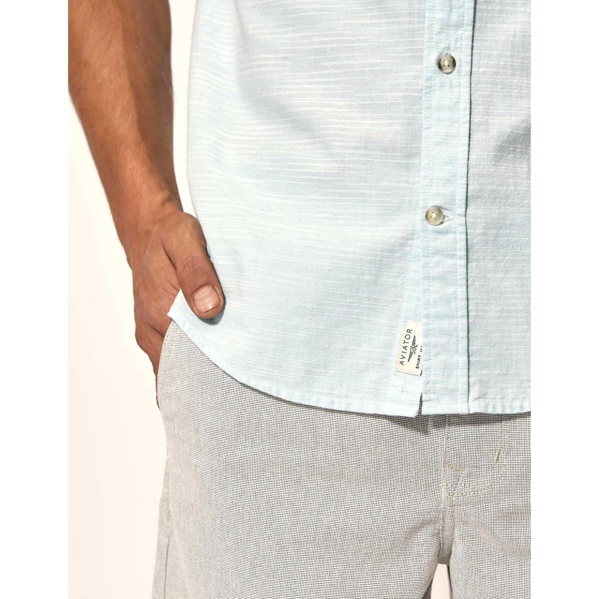 Camisa Slim Fit Martinica Aviator Masculina - Verde