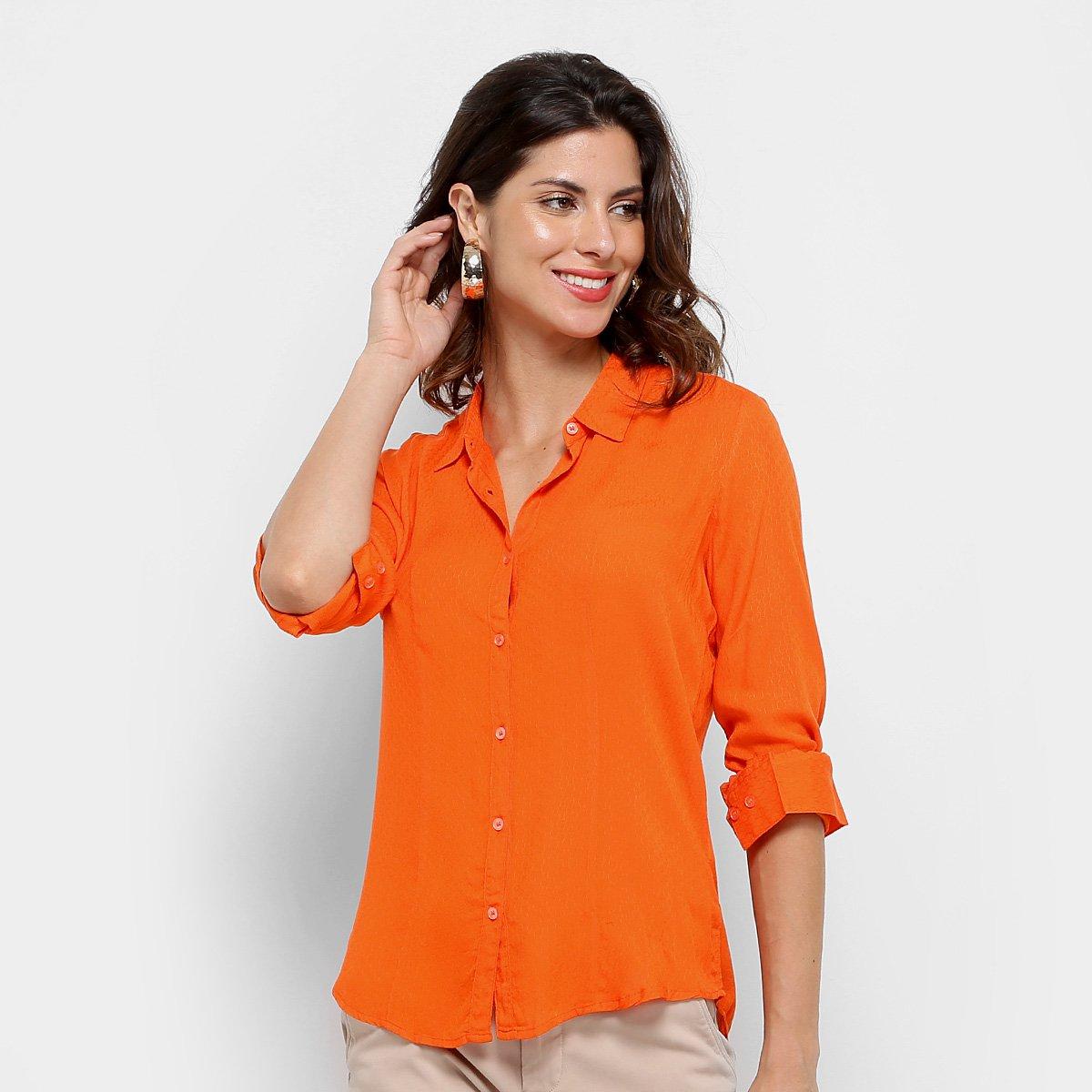 397c5143d3 Camisa Social Aishty Manga Longa Feminina - Compre Agora