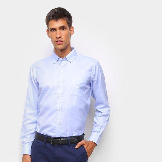 Camisa Social Aleatory C/ Bolso Manga Longa Masculina - Azul Claro